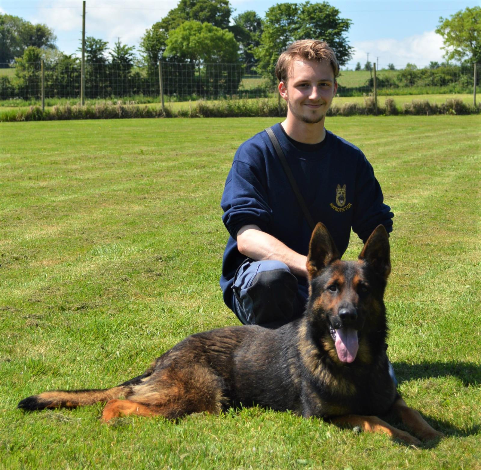 Protection dog trainer Kieran French